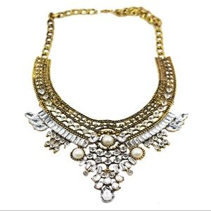 Ethnic traditional pearl crystal necklace